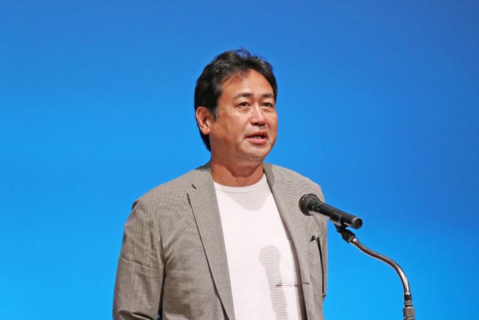 JCAに新規加入した協同組合日本俳優連合 永島敏行常務理事の挨拶